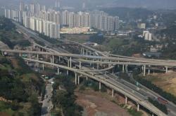 黄桷湾立交桥圆柱钢模施工